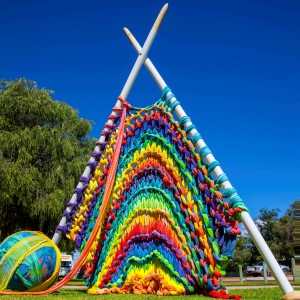 2016 Giant Knitting by Yallingup Steiner School Students