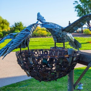 Eagle Eye by Dennis Wilson. Joint Dianne Laurance Award. Sculpture by the Bay 2017